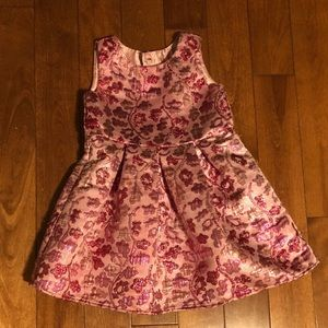 Sparkly pink dress with flowers